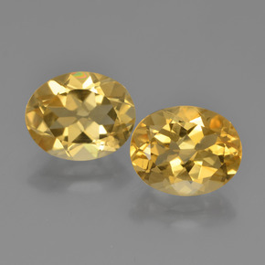 Yellow Golden Citrine Gem - 2.3ct Oval Facet (ID: 449628)