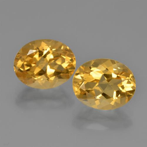 Yellow Citrine Gem - 2.5ct Oval Facet (ID: 449629)