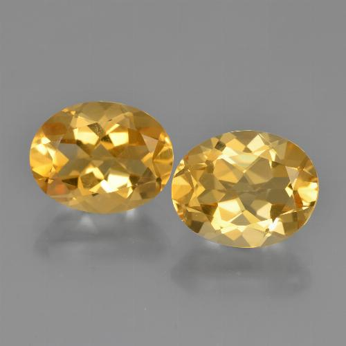 Yellow Golden Citrine Gem - 2.3ct Oval Facet (ID: 449630)