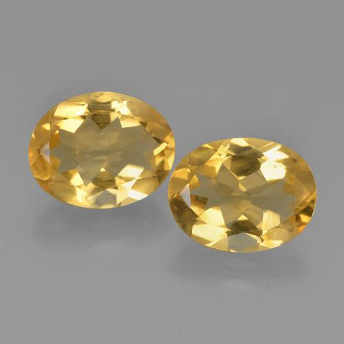 Yellow Citrine Gem - 2.1ct Oval Facet (ID: 449631)