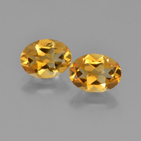 Yellow Golden Citrine Gem - 1ct Oval Facet (ID: 449675)