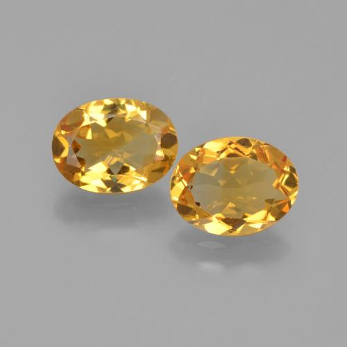 Yellow Golden Citrine Gem - 1ct Oval Facet (ID: 449677)