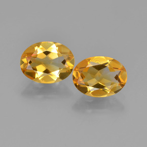 Yellow Golden Citrine Gem - 1.1ct Oval Facet (ID: 449684)
