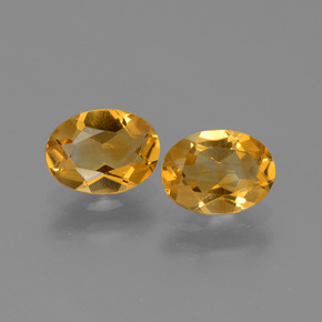 Deep Orange-Gold Citrine Gem - 1ct Oval Facet (ID: 449712)