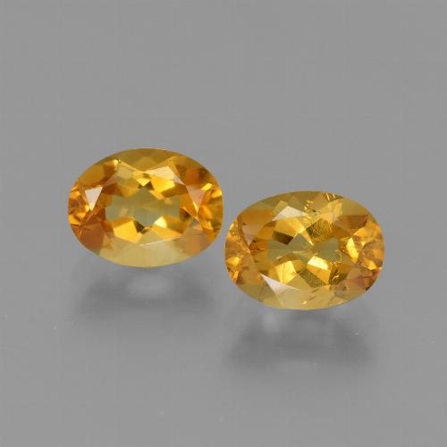 Yellow Golden Citrine Gem - 1.2ct Oval Facet (ID: 449715)