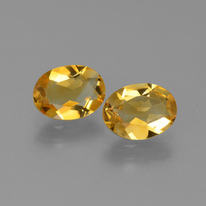 Yellow Golden Citrine Gem - 1.1ct Oval Facet (ID: 449717)