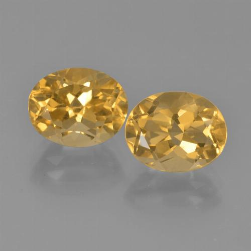 Yellow Golden Citrine Gem - 2.8ct Oval Facet (ID: 449737)