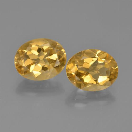 Yellow Golden Citrine Gem - 2.3ct Oval Facet (ID: 449739)