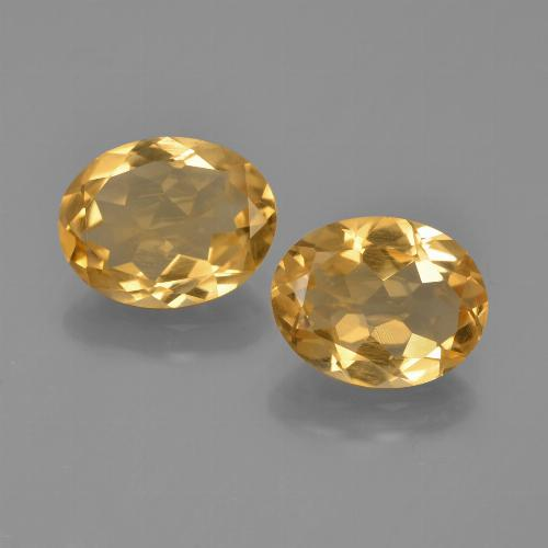 Yellow Citrine Gem - 1.9ct Oval Facet (ID: 449740)