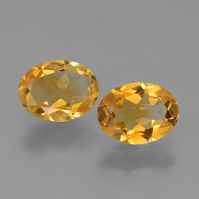 Deep Golden Orange Citrine gemme - 1ct Ovale facette (ID: 449759)