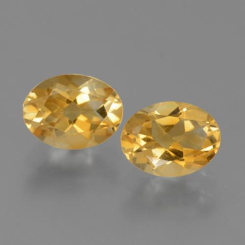 Yellow Golden Citrine Gem - 1.1ct Oval Facet (ID: 449762)