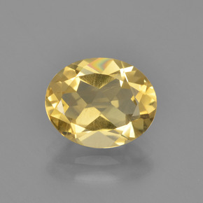 Light Gold Citrina Gema - 2.3ct Forma ovalada (ID: 449807)