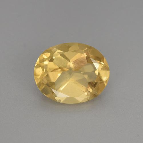 Yellow Golden Citrine Gem - 2.3ct Oval Facet (ID: 449867)