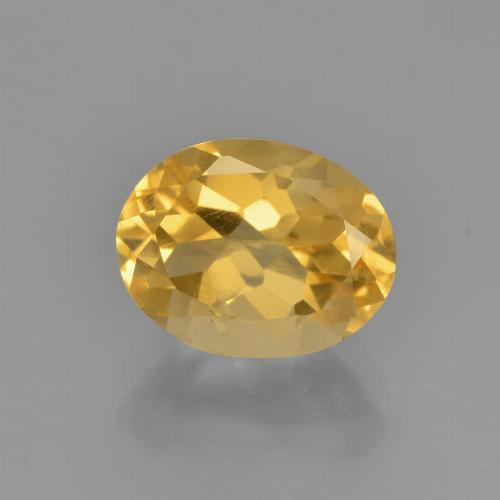 Bright Gold Citrine Gem - 2.4ct Oval Facet (ID: 449876)