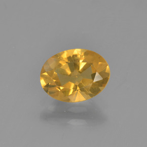 thumb image of 1ct Oval Facet Yellow Golden Citrine (ID: 449900)