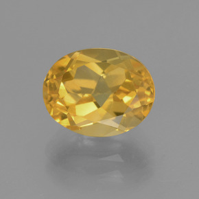 Yellow Golden Citrine Gem - 2.8ct Oval Facet (ID: 449923)