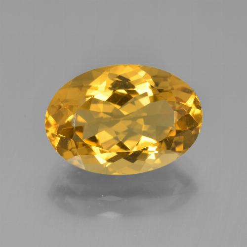 Golden Orange Citrine Gem - 4.6ct Oval Facet (ID: 450396)