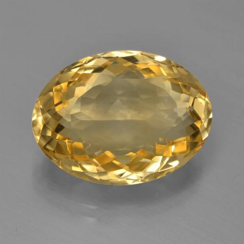 8ct Oval Facet Yellow Golden Citrine Gem (ID: 450416)