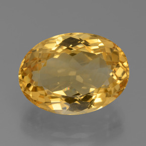 Medium-Dark Golden Citrina Gema - 8.1ct Forma ovalada (ID: 450419)