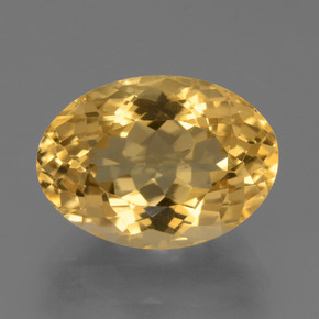 Yellow Golden Citrine Gem - 6.7ct Oval Facet (ID: 450453)