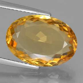 Deep Golden Orange Citrina Gema - 5.4ct Forma ovalada (ID: 450483)