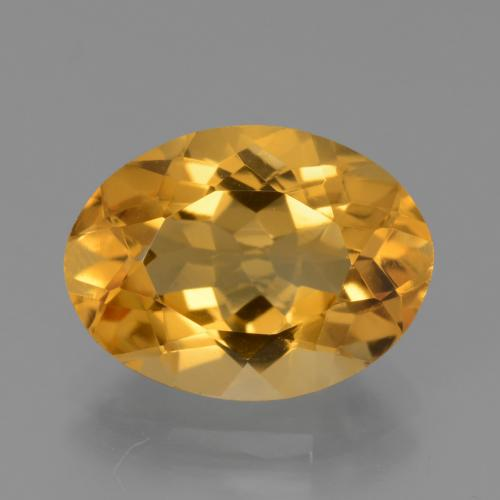 Yellow Golden Citrine Gem - 4.4ct Oval Facet (ID: 450500)
