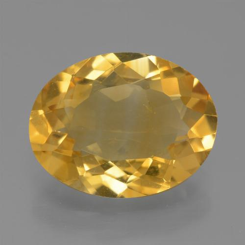 Medium Gold Citrine Gem - 3.5ct Oval Facet (ID: 450506)