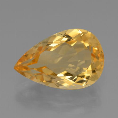 thumb image of 3.9ct Pear Facet Yellow Golden Citrine (ID: 450508)