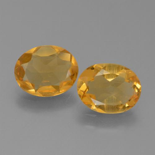 Yellow Citrine Gem - 2.4ct Oval Facet (ID: 450539)