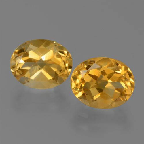 Yellow Citrine Gem - 2.5ct Oval Facet (ID: 450542)