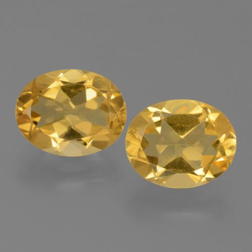 Yellow Golden Citrine Gem - 2.1ct Oval Facet (ID: 450546)
