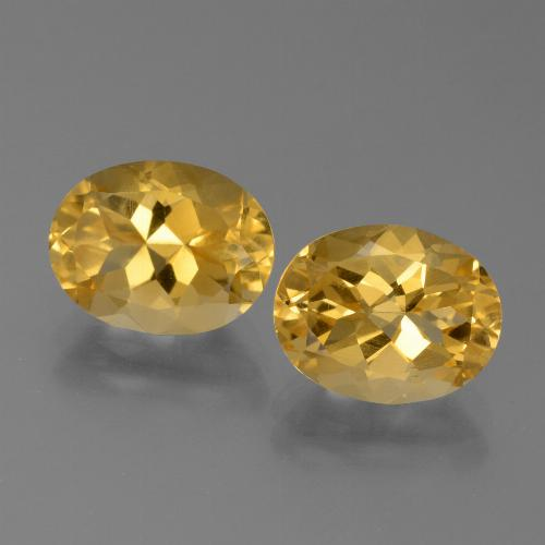 Yellow Golden Citrine Gem - 2.5ct Oval Facet (ID: 450562)
