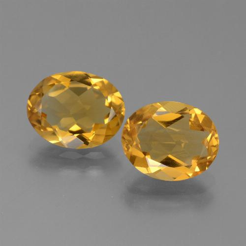 Deep Orange-Gold Citrina Gema - 2ct Forma ovalada (ID: 450564)