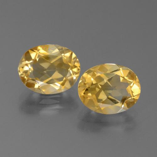 Yellow Golden Citrine Gem - 2.2ct Oval Facet (ID: 450566)
