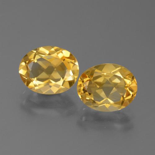 Yellow Golden Citrine Gem - 2.3ct Oval Facet (ID: 450571)