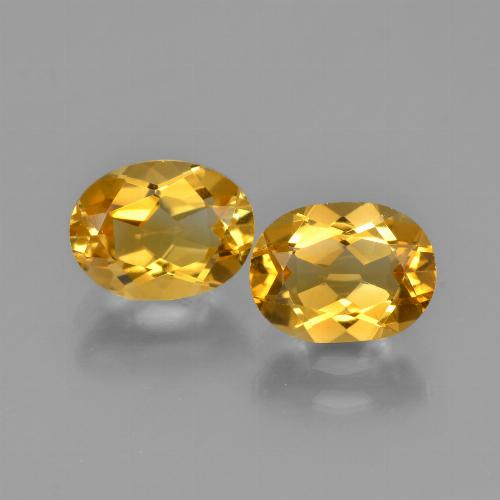 Yellow Golden Citrine Gem - 1.2ct Oval Facet (ID: 450584)