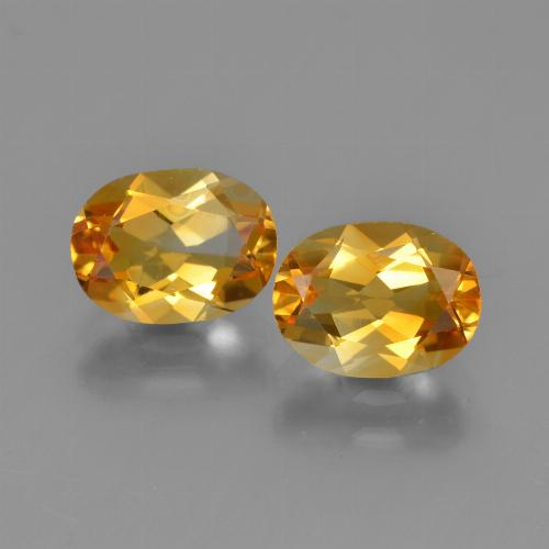 Deep Orange-Gold Citrina Gema - 1.2ct Forma ovalada (ID: 450594)