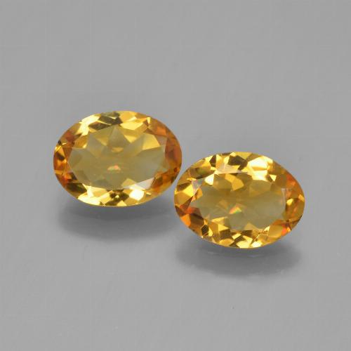 Yellow Golden Citrine Gem - 0.9ct Oval Facet (ID: 450595)