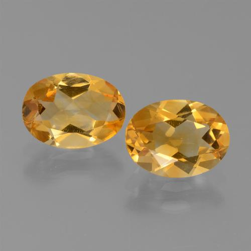 Yellow Golden Citrine Gem - 1ct Oval Facet (ID: 450609)