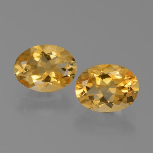 Yellow Golden Citrine Gem - 1.1ct Oval Facet (ID: 450610)
