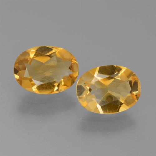 Yellow Golden Citrine Gem - 1.1ct Oval Facet (ID: 450613)