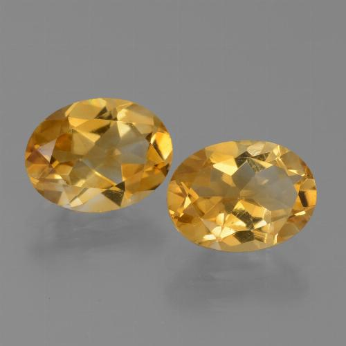 1.1ct Oval Facet Yellow Golden Citrine Gem (ID: 450618)