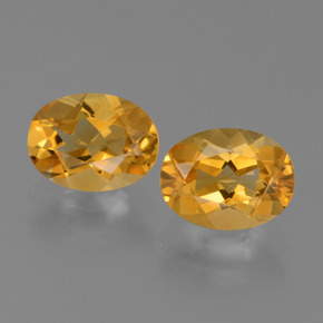 thumb image of 1.1ct Oval Facet Yellow Golden Citrine (ID: 450619)