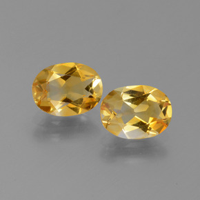 1.1ct Oval Facet Yellow Golden Citrine Gem (ID: 450634)