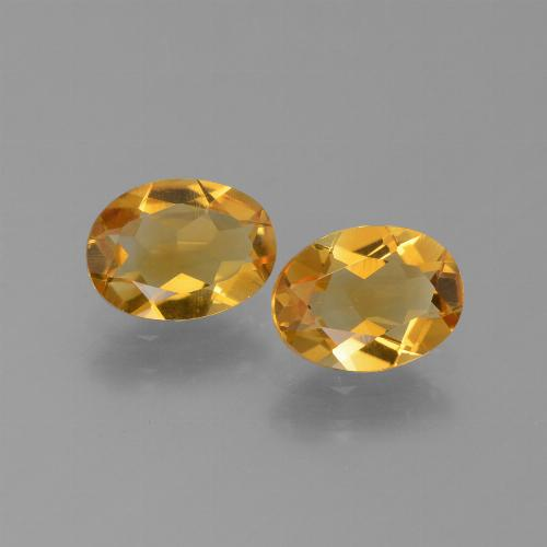Yellow Golden Citrine Gem - 1ct Oval Facet (ID: 450640)