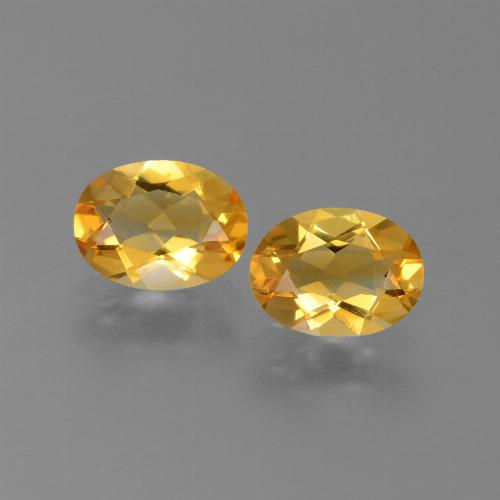 Medium-Dark Golden Citrine Gem - 1ct Oval Facet (ID: 450641)