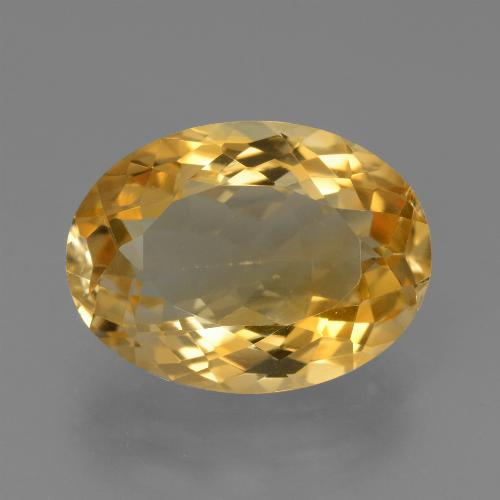 Medium-Dark Golden Citrina Gema - 7.4ct Forma ovalada (ID: 450656)