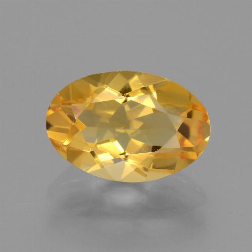 Yellow Golden Citrine Gem - 2.6ct Oval Facet (ID: 450755)