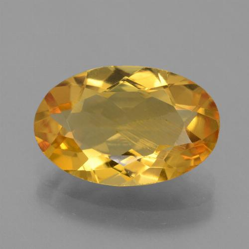 thumb image of 3.4ct Oval Facet Yellow Golden Citrine (ID: 450757)