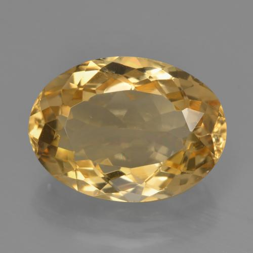 Deep Golden Orange Citrina Gema - 6ct Forma ovalada (ID: 450777)